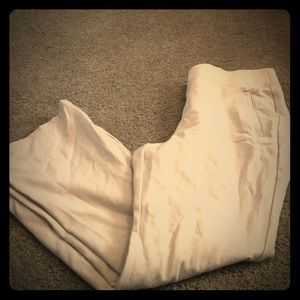 Gently Used Pull On Cream Pants Size 12